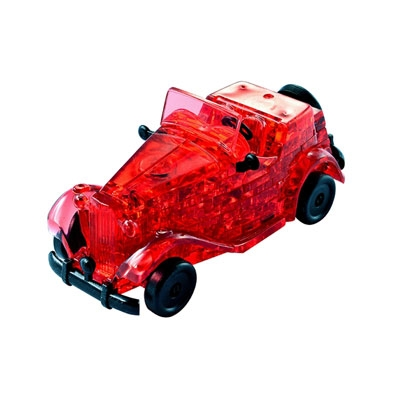 3D Crystal puzzle: Red Classic Car