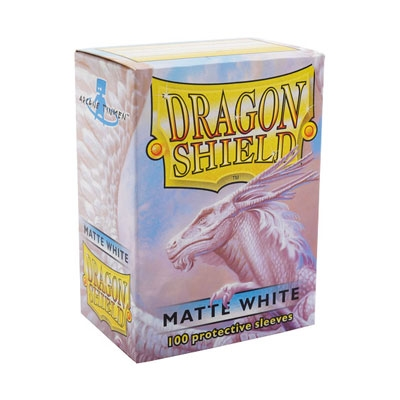 Dragon Shield Matte White 100pcs