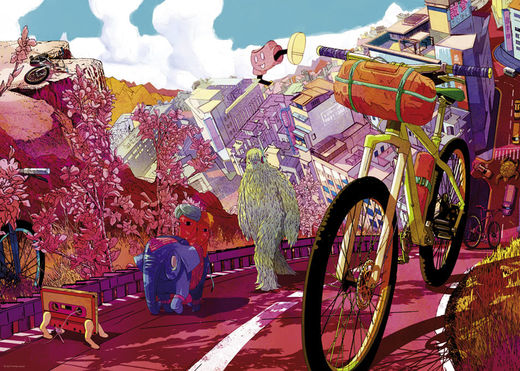 Bike Art - Tour in Pink 29677