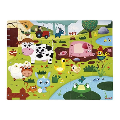 Tactile Puzzle Farm Animals