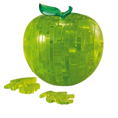 3D Crystal puzzle: Apple green
